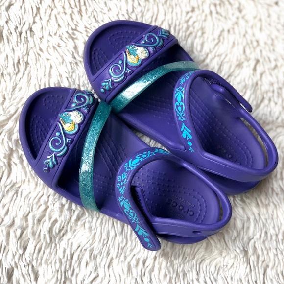 c3db758f6 CROCS Other - Frozen Elsa and Ana Crocs size C9 toddler sandals